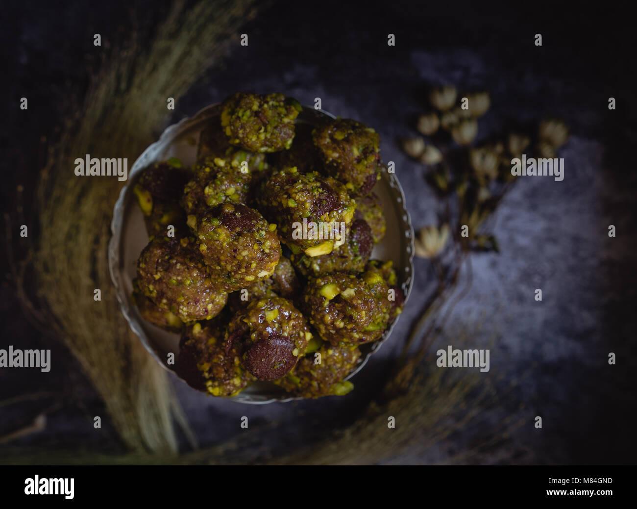 Pistazien Cookies Stockfoto