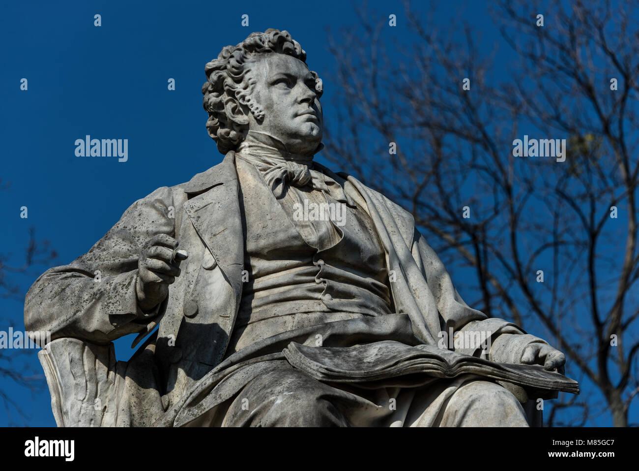 Schubert-Denkmal im Wiener Stadtpark Stockbild