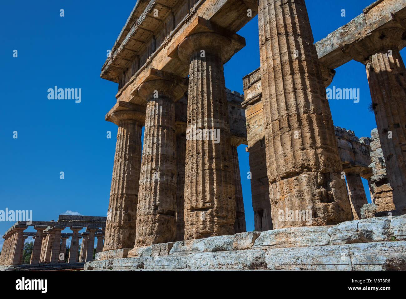 Paestum Stockbild