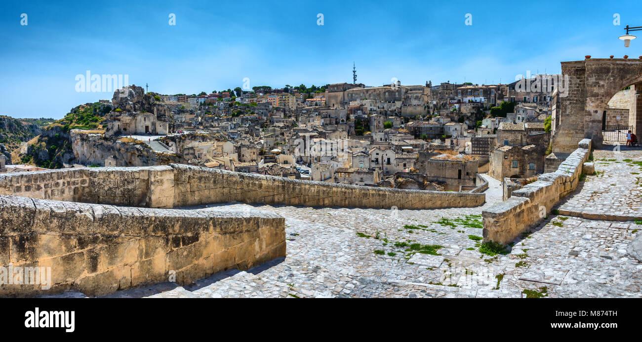 Matera Panorama Stockbild