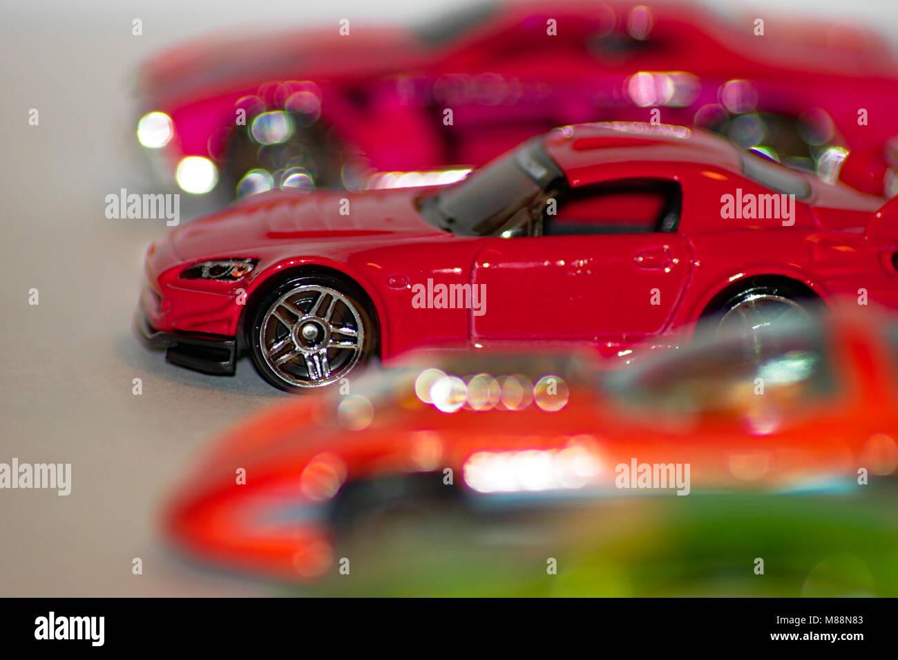 Kinder Spielzeug Sport Rennwagen Stockbild