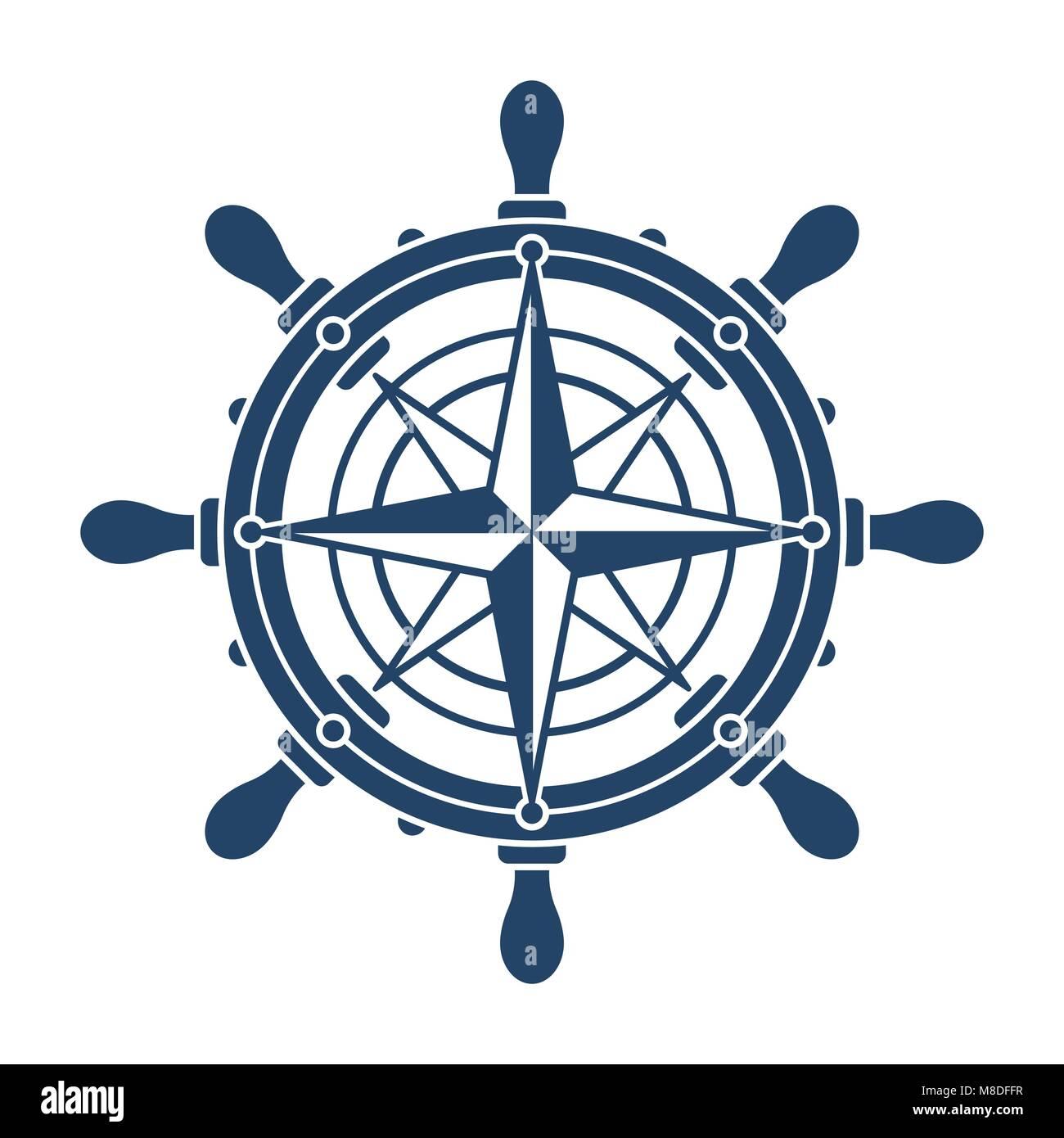 Steuerrad Symbol