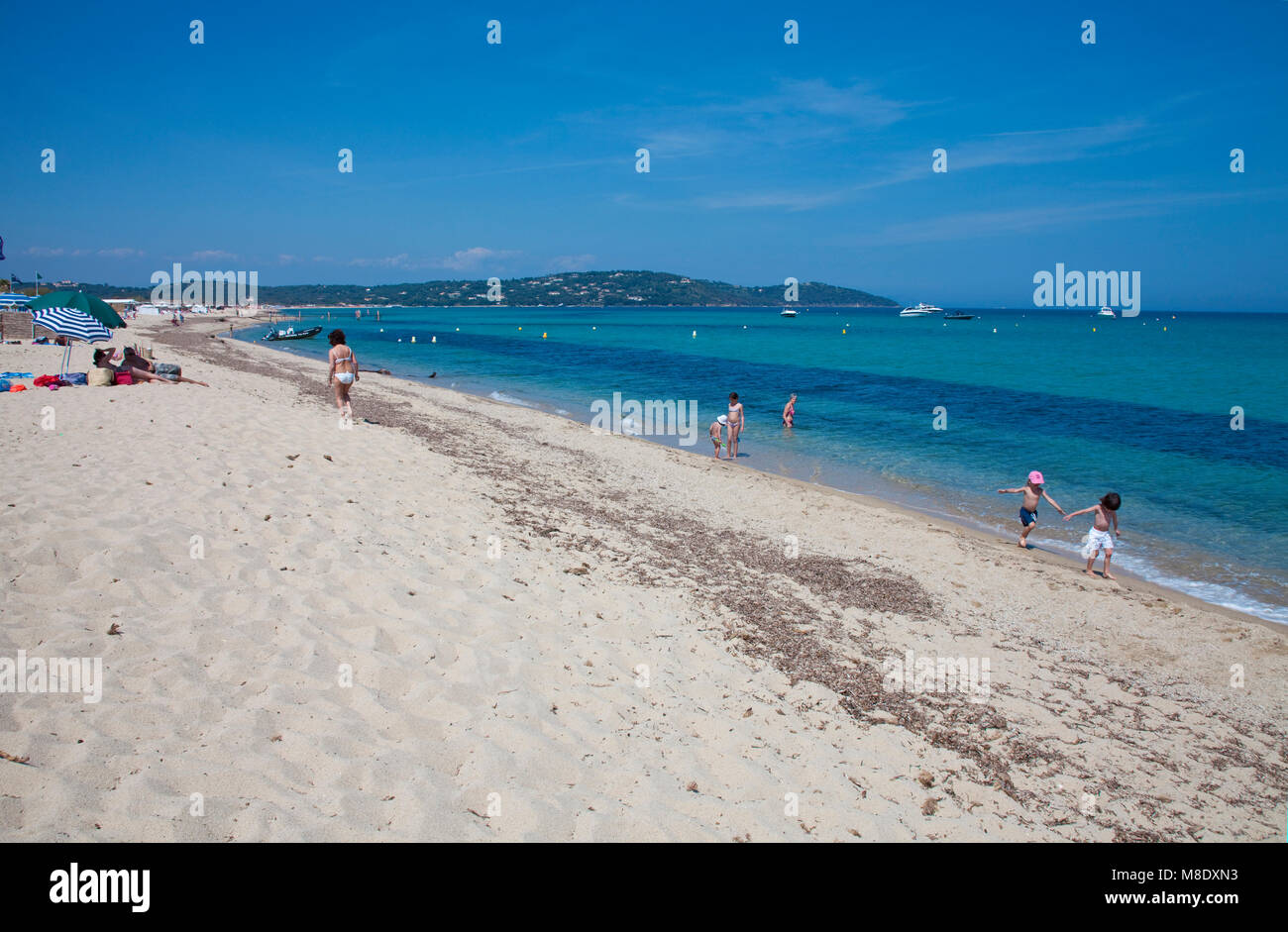 Leben Am Strand Am Strand Von Pampelonne Beliebten Strand Von Saint
