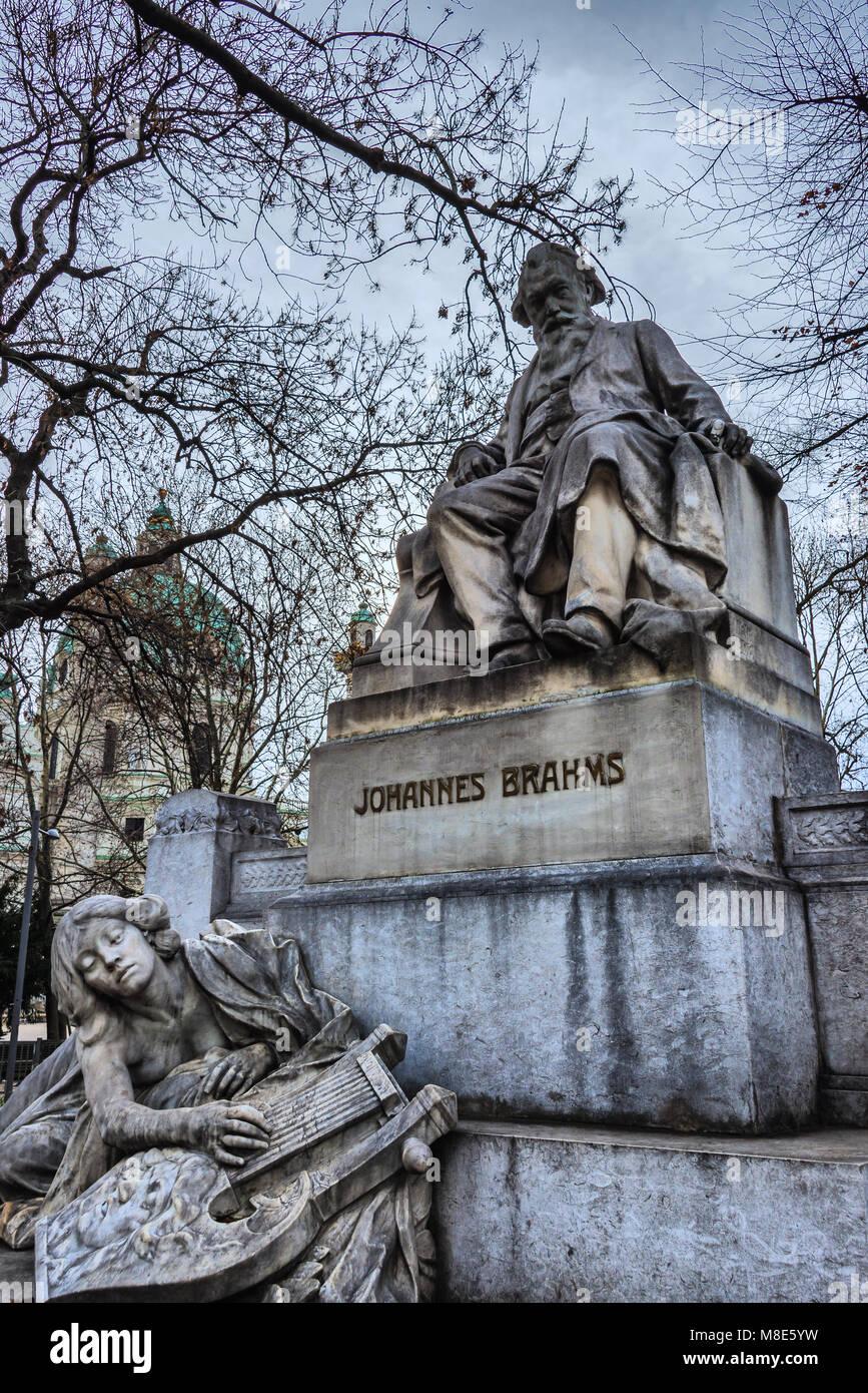 Johannes Brahms Denkmal Wien Stockbild