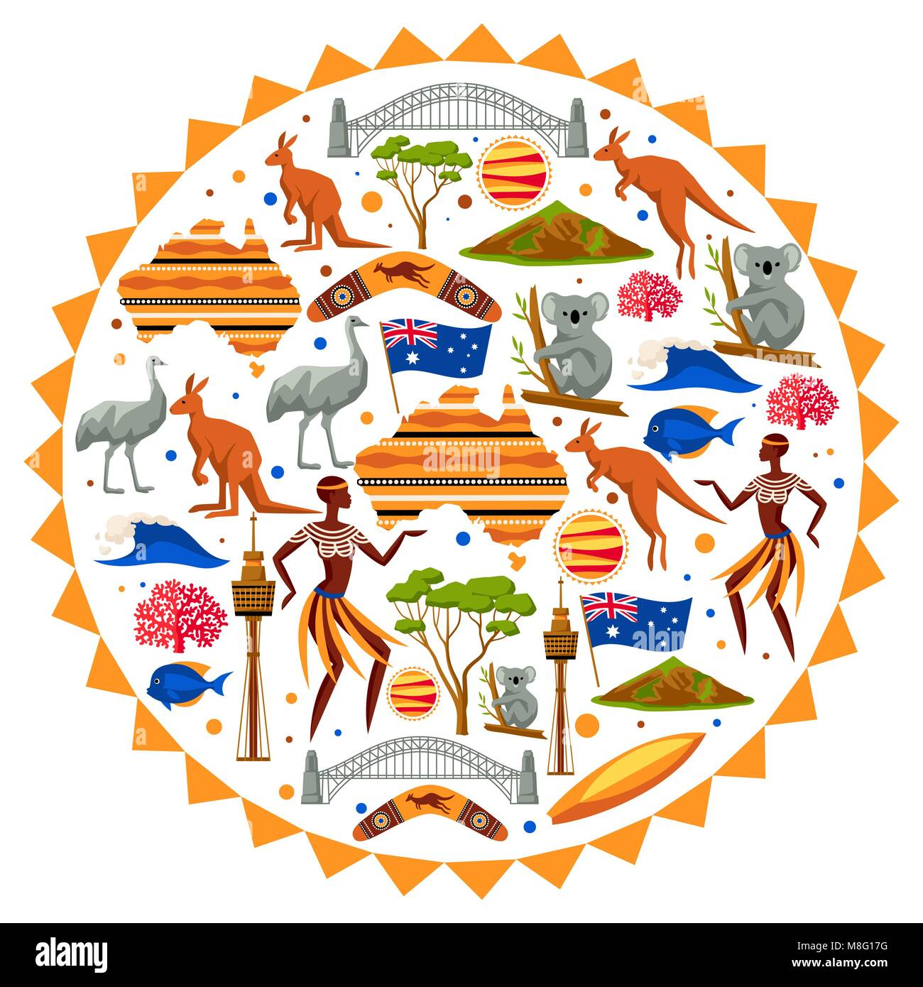 Australia Vector Background Map Poster Stockfotos & Australia Vector ...