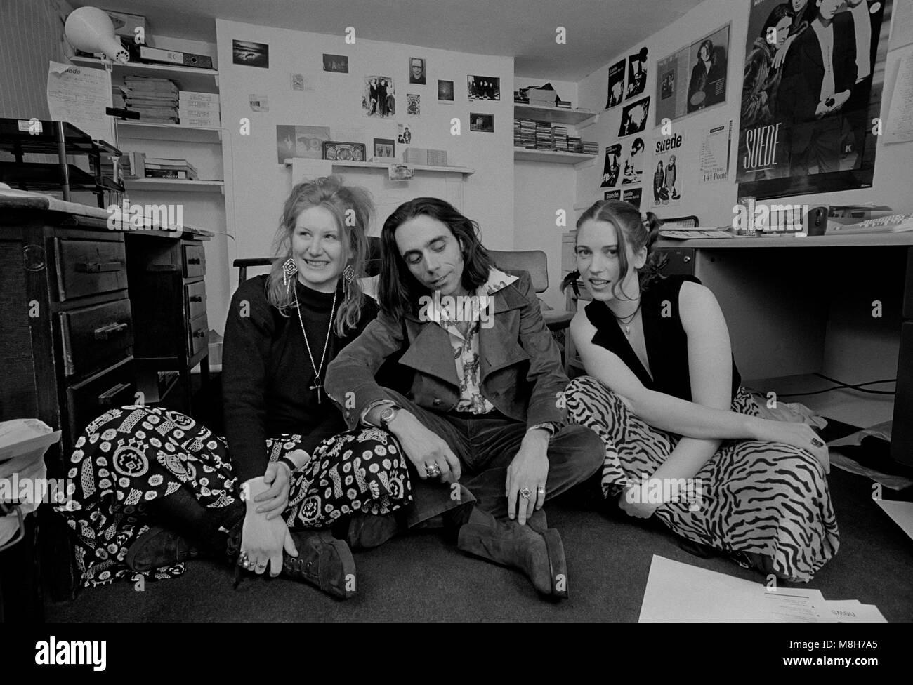Fans der Band Suede 1993 Stockbild