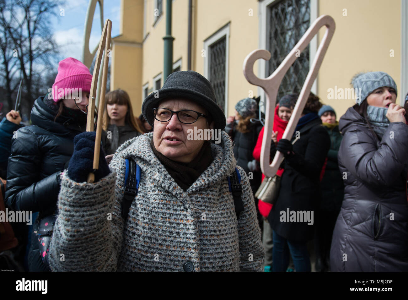 Abortion Protest Protester Stockfotos & Abortion Protest Protester ...