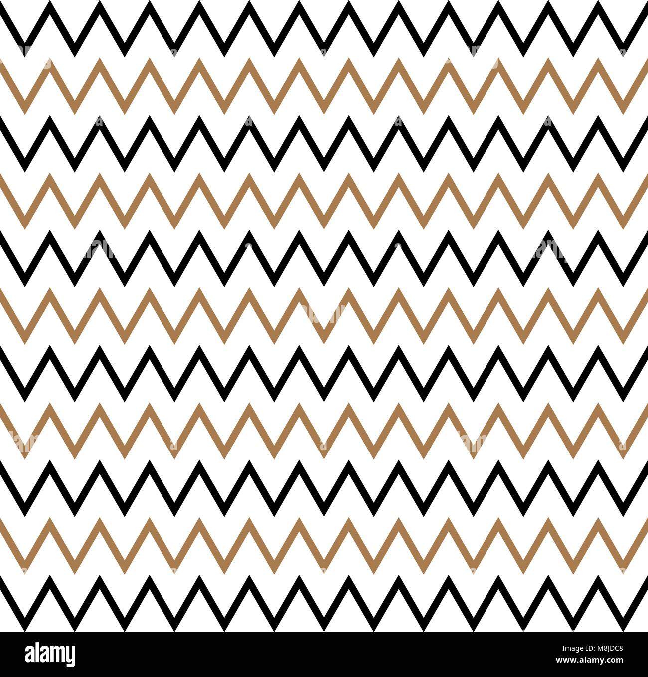Geometric Black Gold Seamless Pattern Stockfotos & Geometric Black ...