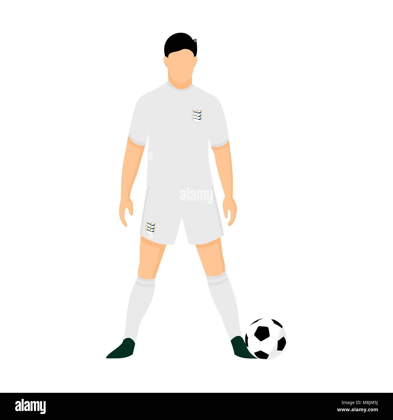 England Fussball Trikot Nationalmannschaft Wm Vector