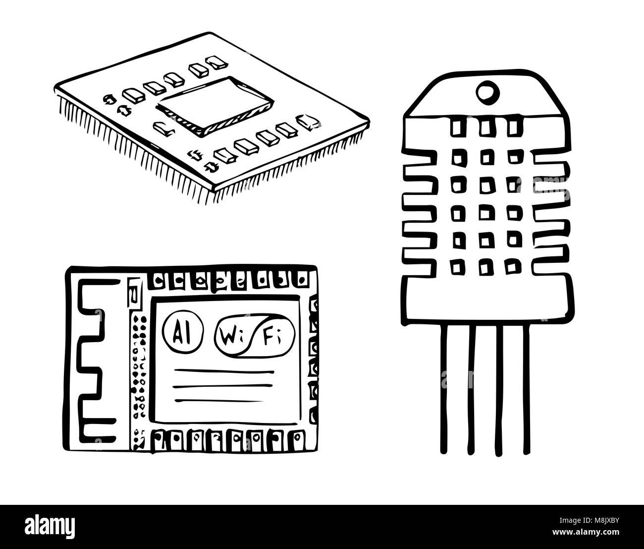 Ausgezeichnet Elektronische Skizze Ideen - Die Besten Elektrischen ...