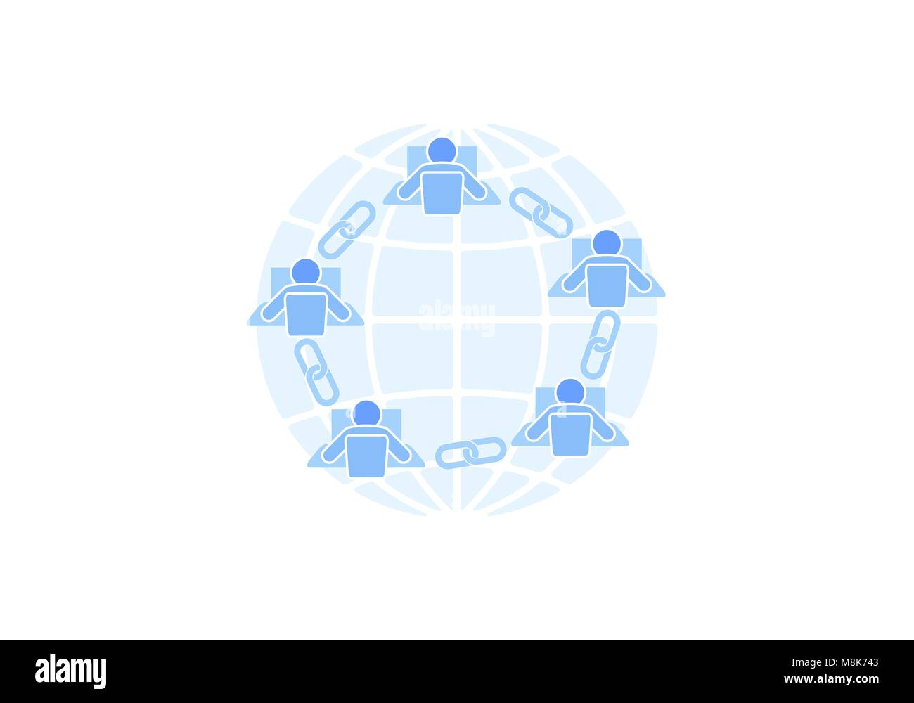 Global Security Icon Flat Design Stockfotos & Global Security Icon ...