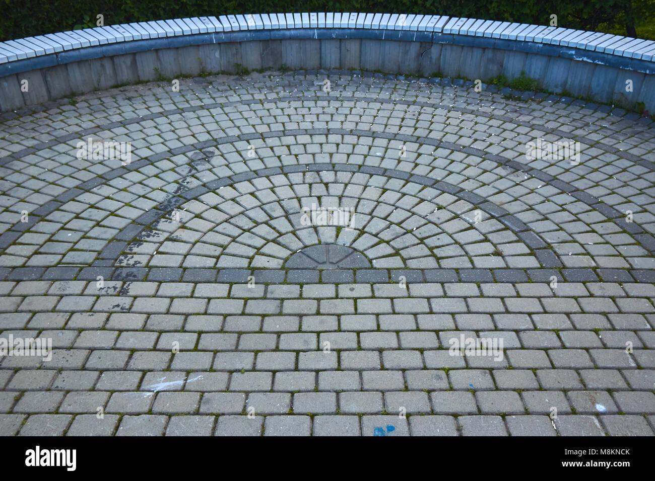 muster pflastersteine in der form eines kreises - Pflastersteine Muster Bilder