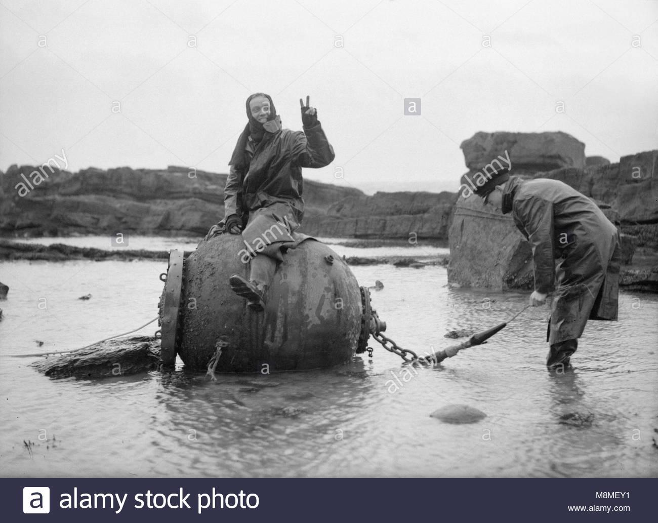 Die Royal Navy während des Zweiten Weltkriegs bekleidet mit Wolle ...