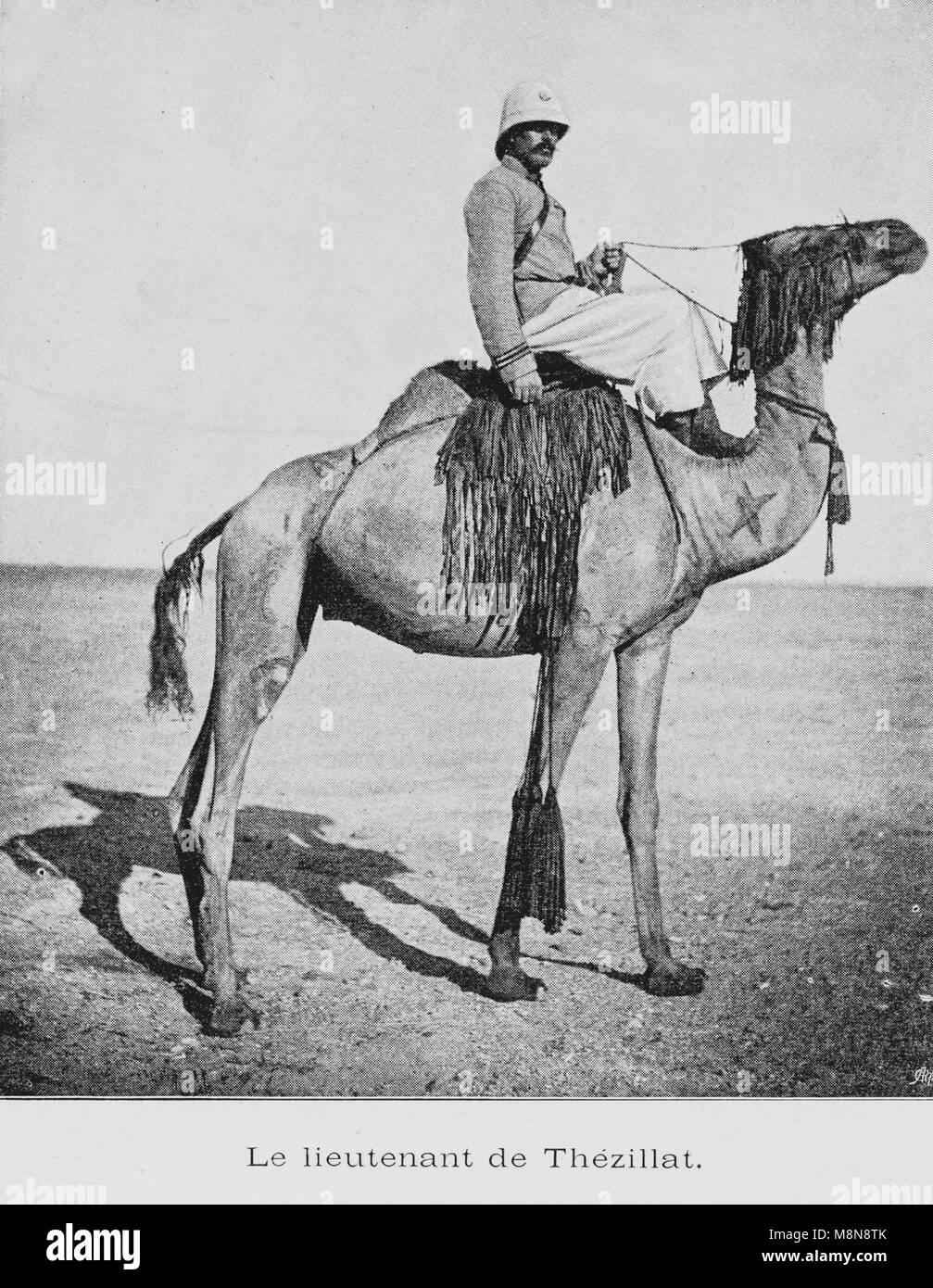 Französische Foureau-Lamy Expedition im Tschad im Jahr 1900, Leutnant de Thezillat, Bild aus der Französischen Stockbild