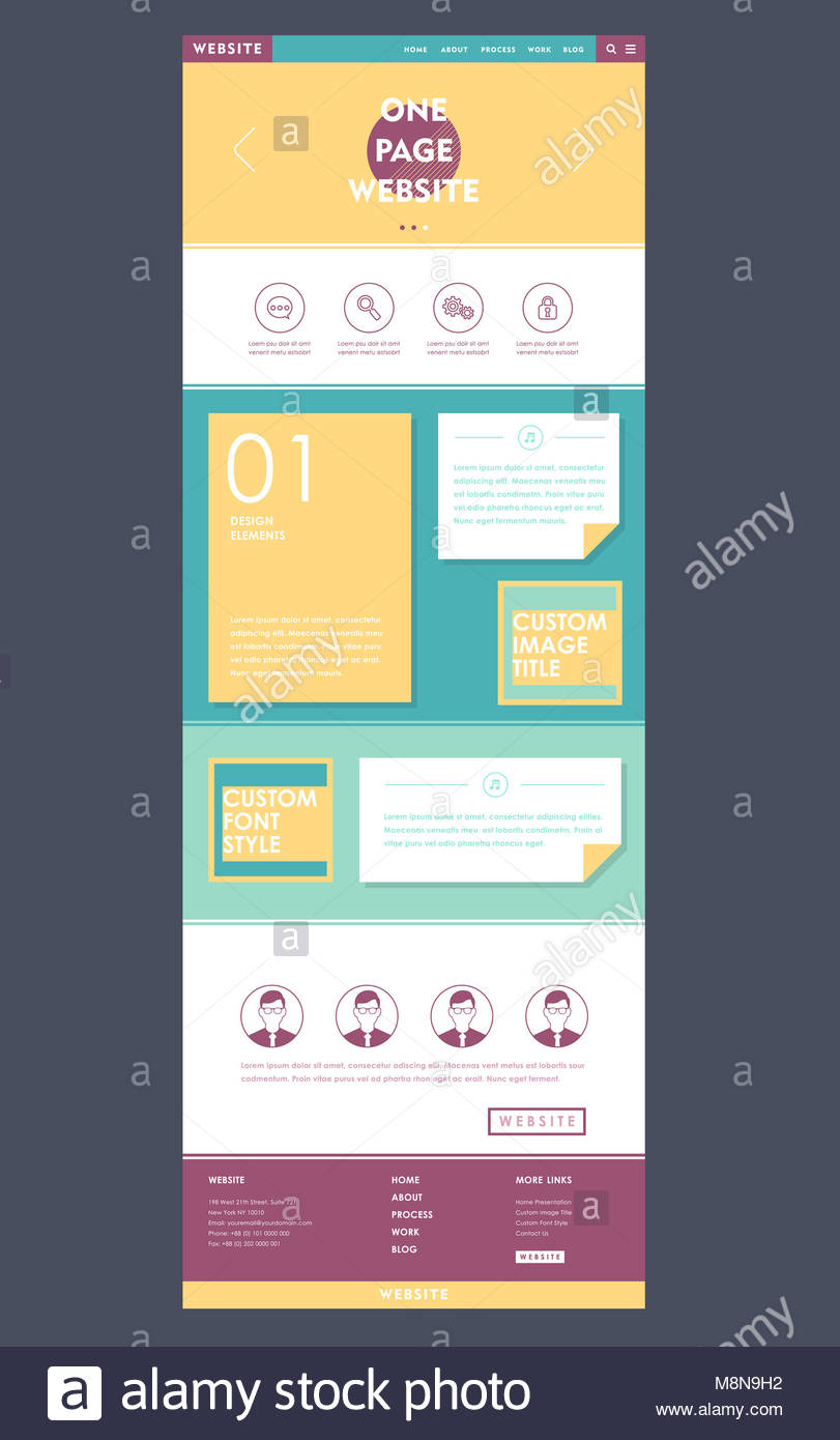 Simplicity One Page Website Template Stockfotos & Simplicity One ...