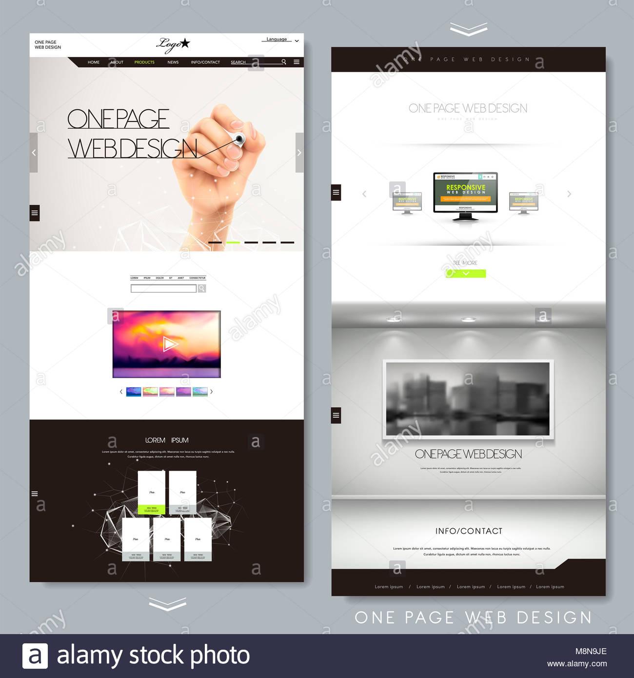 Ausgezeichnet Eine Seite Website Vorlage Zeitgenössisch - Beispiel ...