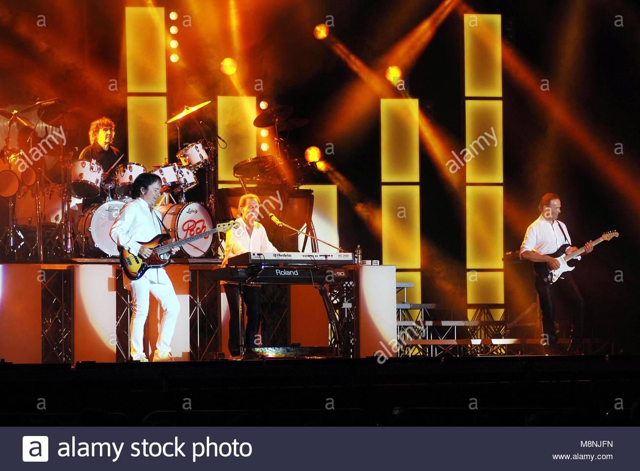 Vigevano 2009, pfui im Konzert Stockbild
