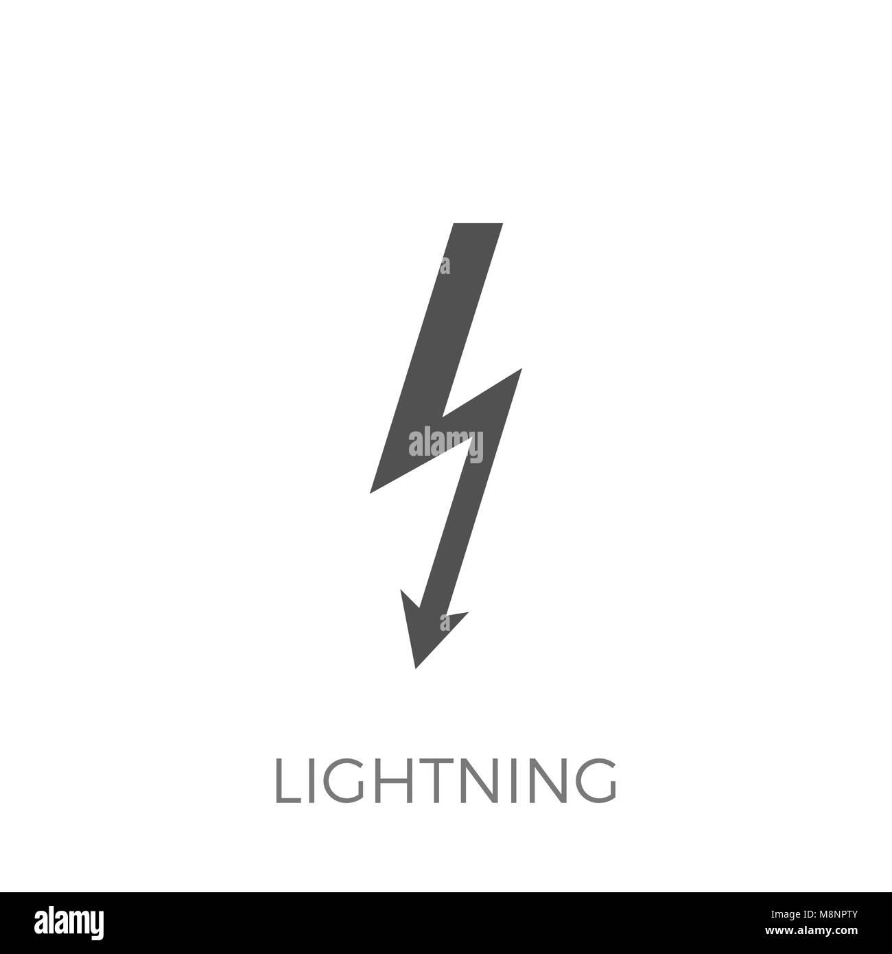 Blitz Vektor Gluph Symbol. Erweitern Sie in jeder Größe - Einfache ...