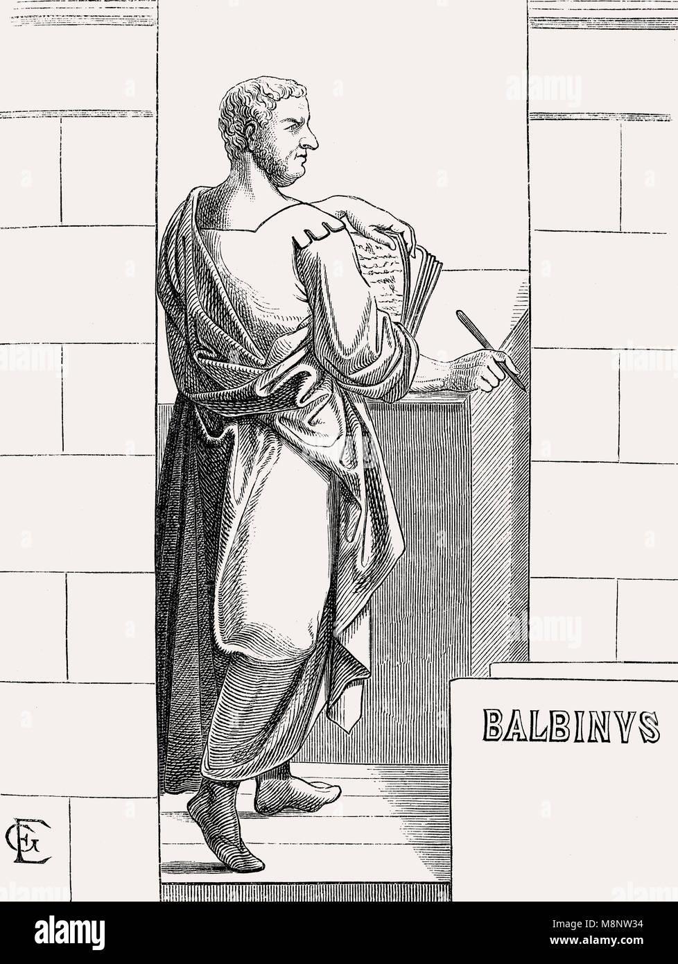 Balbinus, C. 178 - vom 29. Juli 238, römische Kaiser für drei Monate in 238 Stockbild