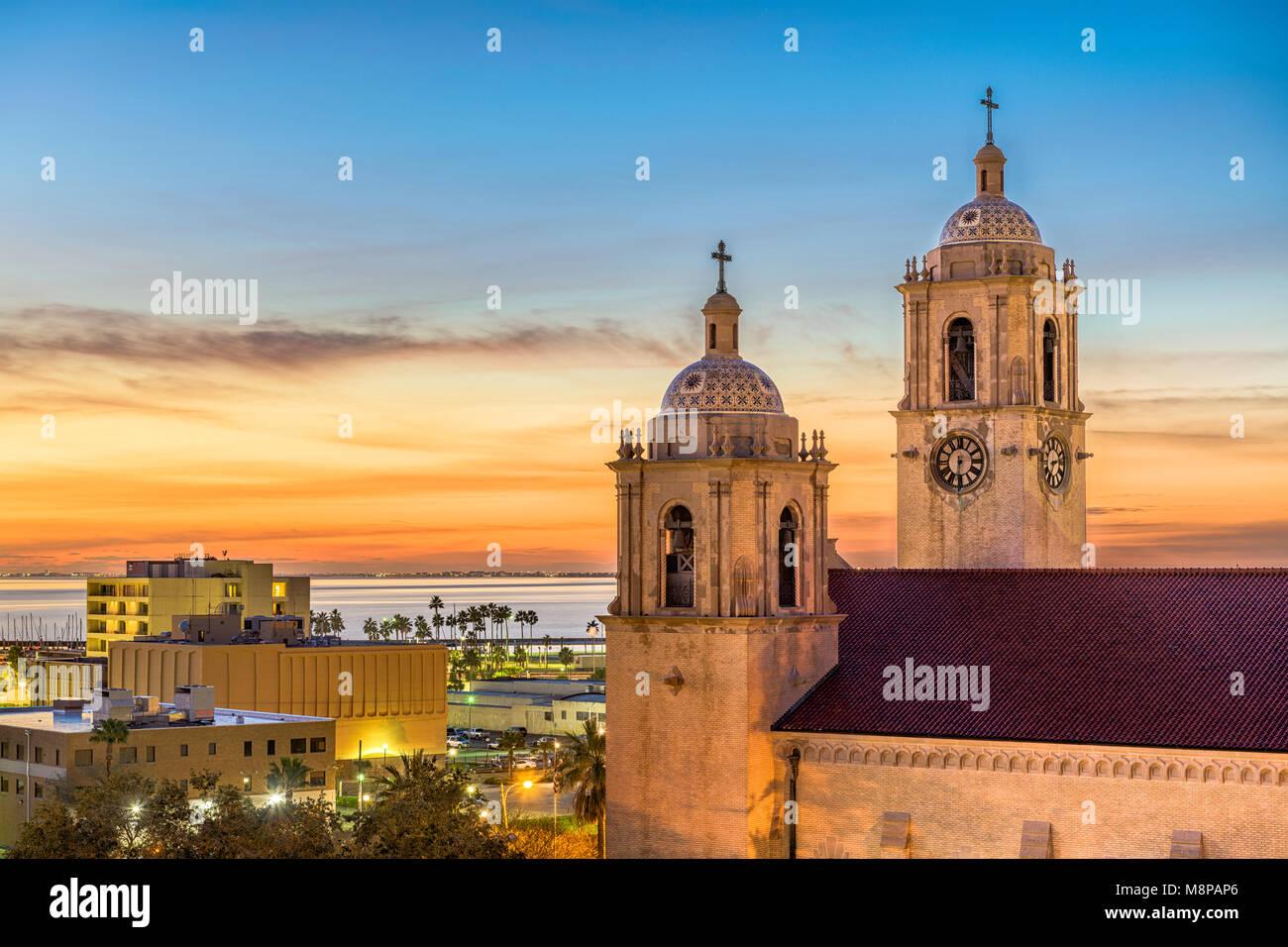 Corpus Christi, Texas, USA, in Corpus Christi Kathedrale in den frühen Morgen. Stockbild