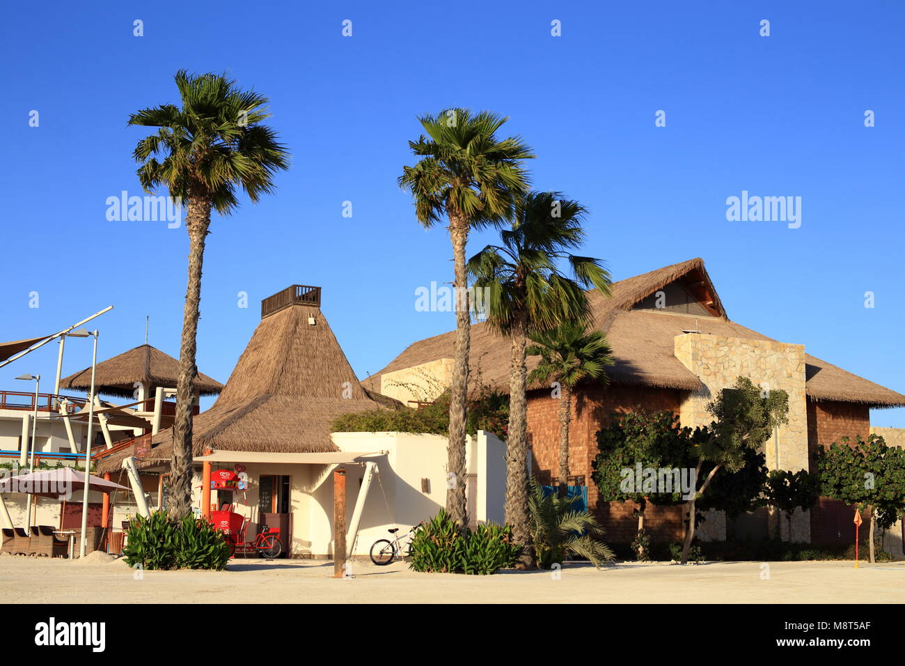 Banana Island Doha Marz 14 2018 Der Strand Cafe Auf Katars