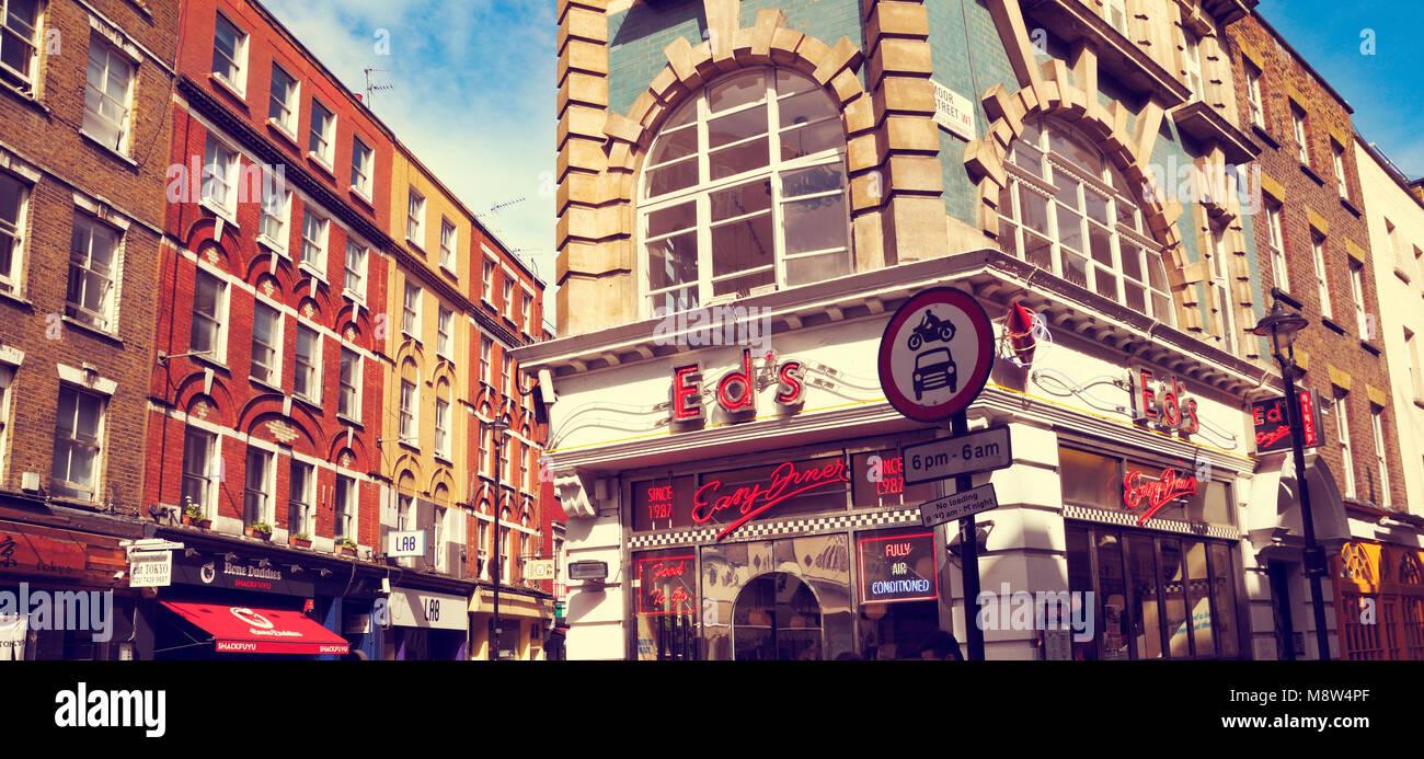 Ed ist einfach, Diner, Soho, London, UK Stockbild