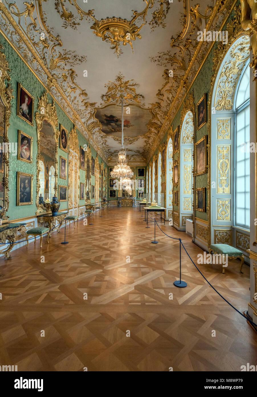 Der Münchner Residenz diente als Sitz der Regierung und der Residenz der bayerischen Herzöge, Kurfürsten und Könige Stockfoto