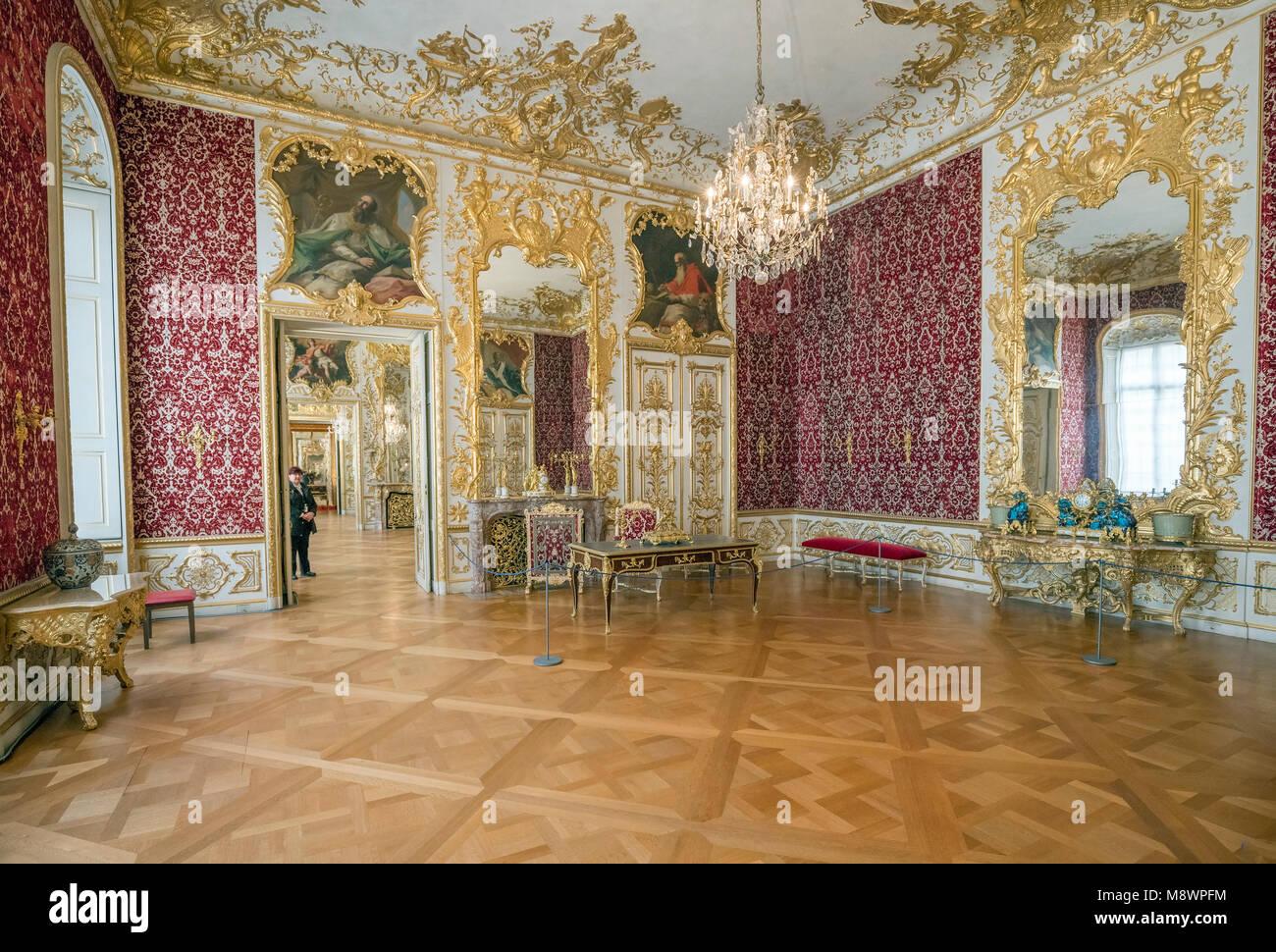 Der Münchner Residenz diente als Sitz der Regierung und der Residenz der bayerischen Herzöge, Kurfürsten Stockbild