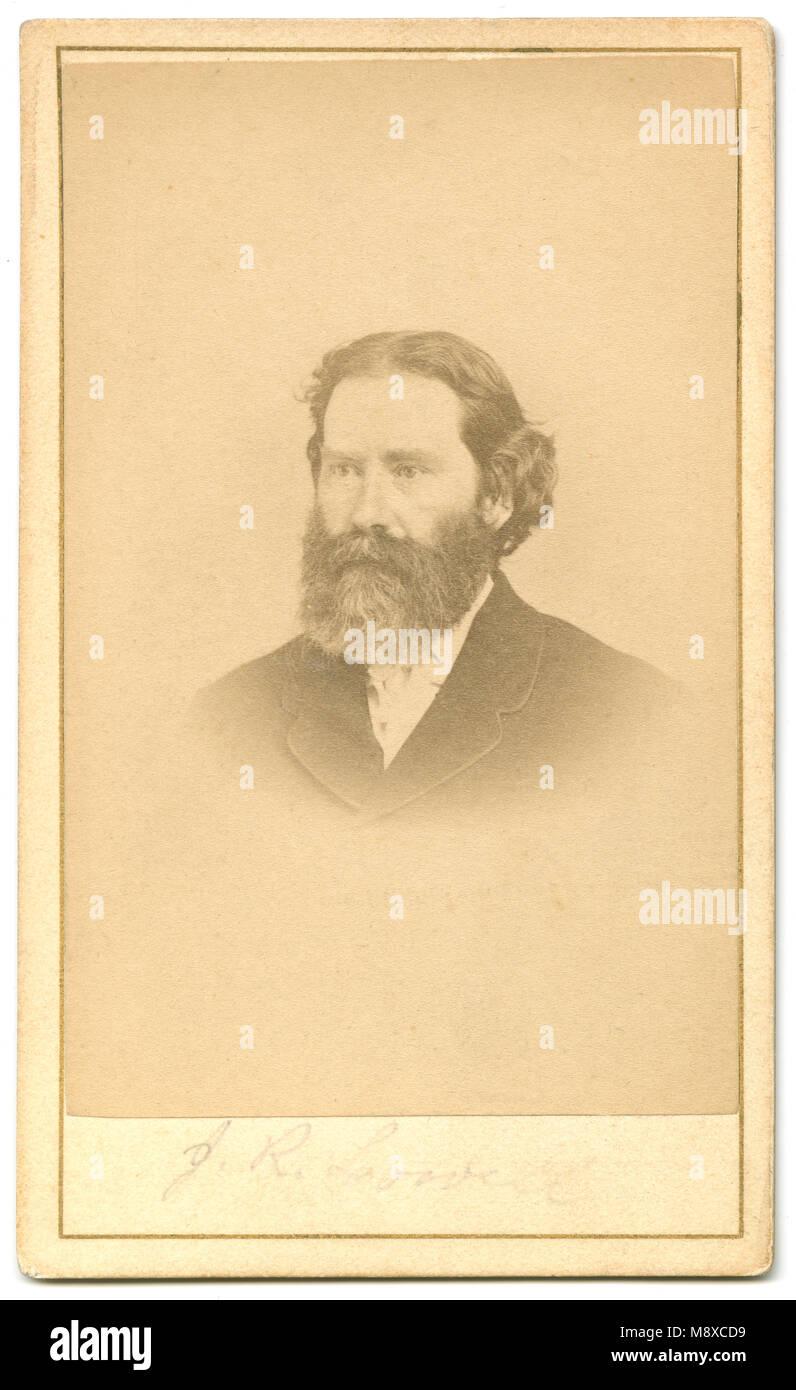 Antike C 1860 Carte De Visite James Russell Lowell 1819 1891 War Ein US Amerikanischer Romantischer Dichter Kritiker