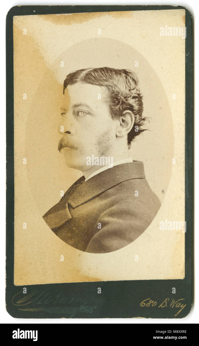 Antike C 1860 Carte De Visite James Gordon Bennett Jr