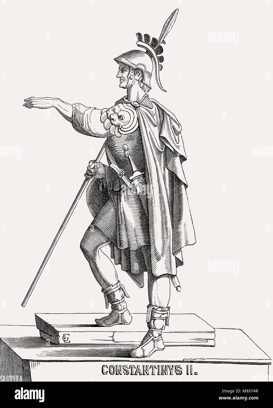 Constantius II., römischer Kaiser von 337 bis 361 Stockbild
