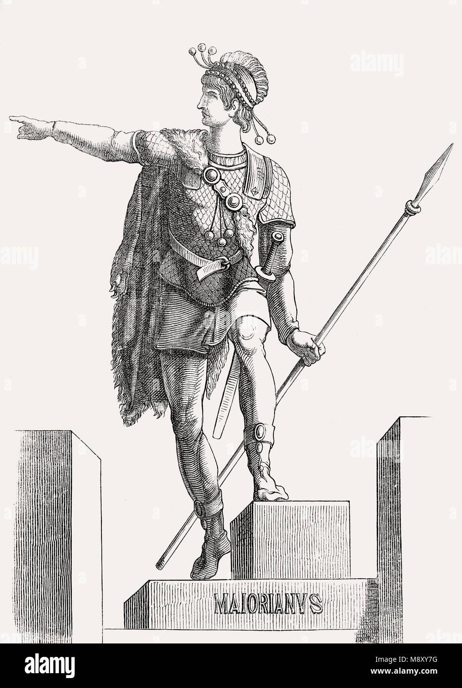 Majorian oder Flavius Valerius Julius Majorianus, Western römischer Kaiser von 457 bis 461 Stockbild