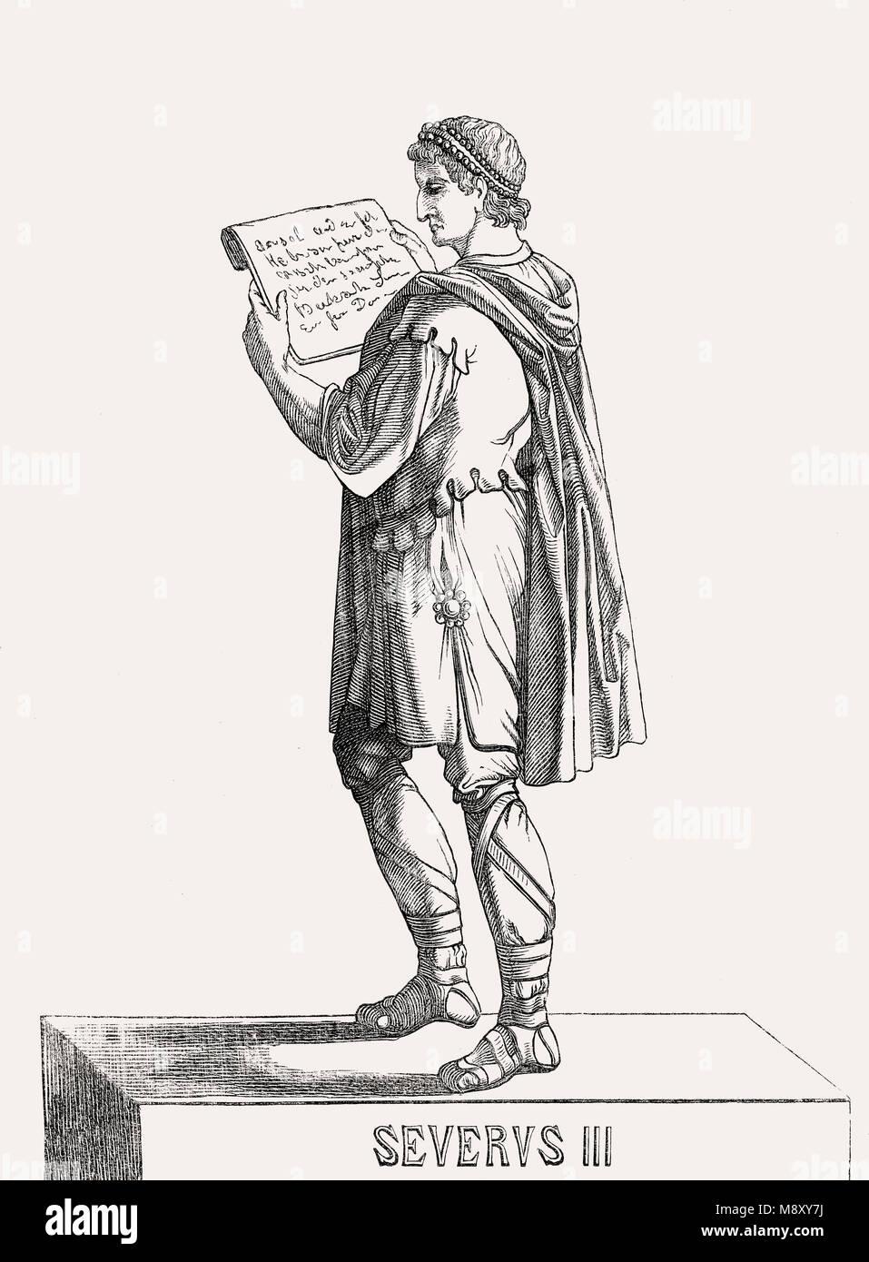Libius Severus, oder Severus III, Western römischer Kaiser von 461 bis 465 Stockbild