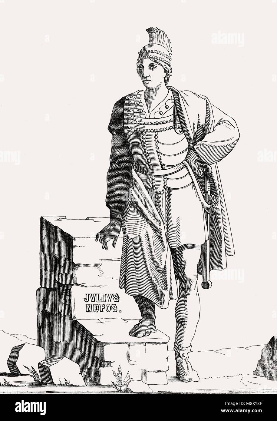 Julius Nepos, Westlichen Römischen Kaiser de facto von 474 bis 475 Stockbild