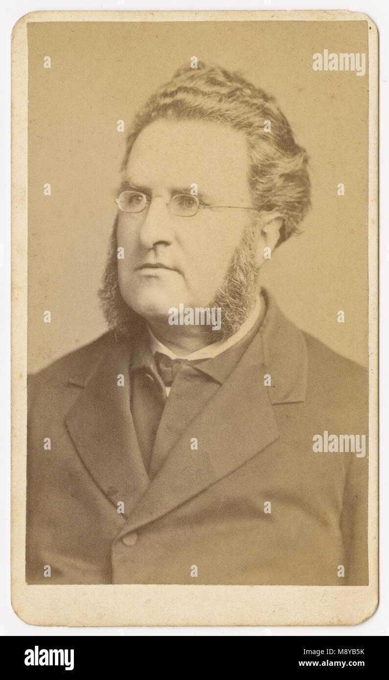 Antike c 1870 carte de visite, Pfr. Herr Cudworth. Warren Händel Cudworth (1825-1883) war ein kaplan der 1 Stockbild