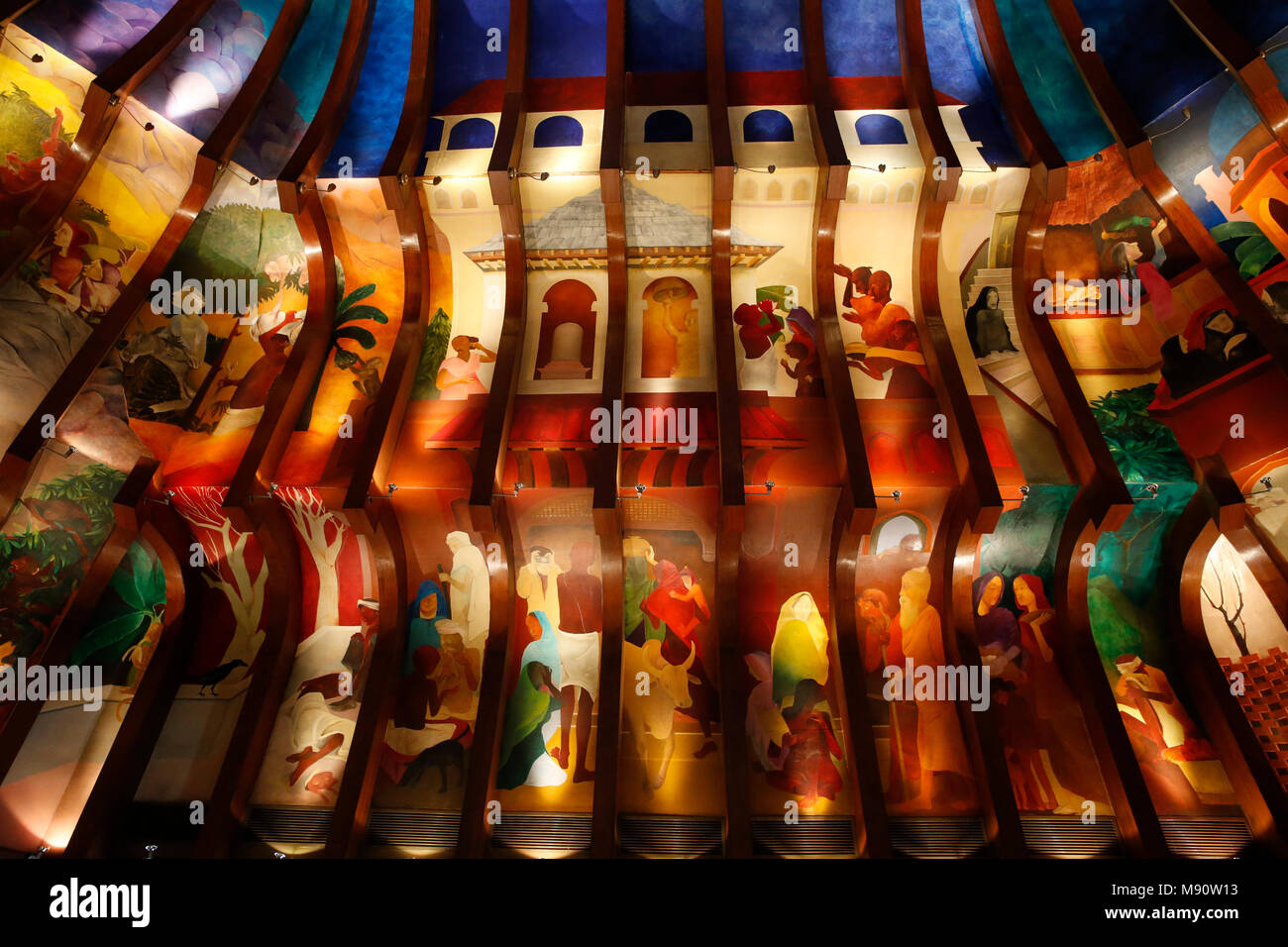 Dekoration der Maurya Hotel, Delhi, Indien. Stockbild