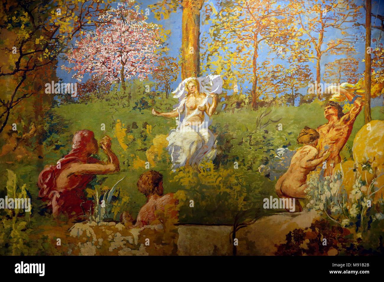 Ker Xavier Roussel, Fontaine De Jouvence (Jungbrunnen), Kleben Sie Die  Malerei Auf Leinwand, 20 Centu