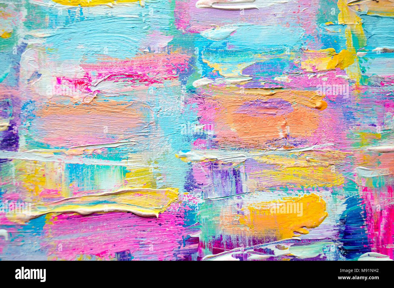 Hand Acryl Malerei gezeichnet. Abstrakte Kunst Hintergrund ...