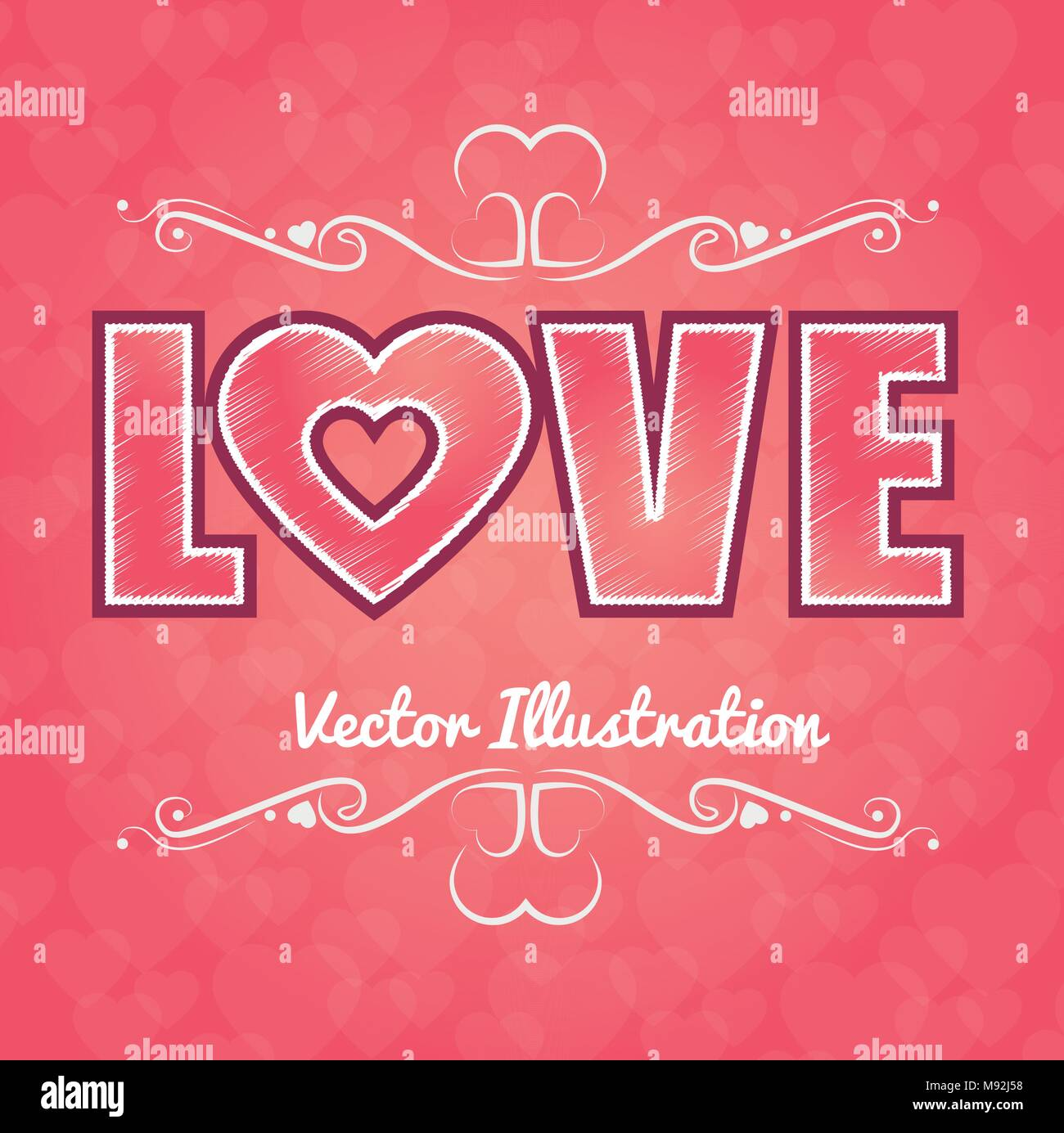 Valentines Tag romantisch Stockbild
