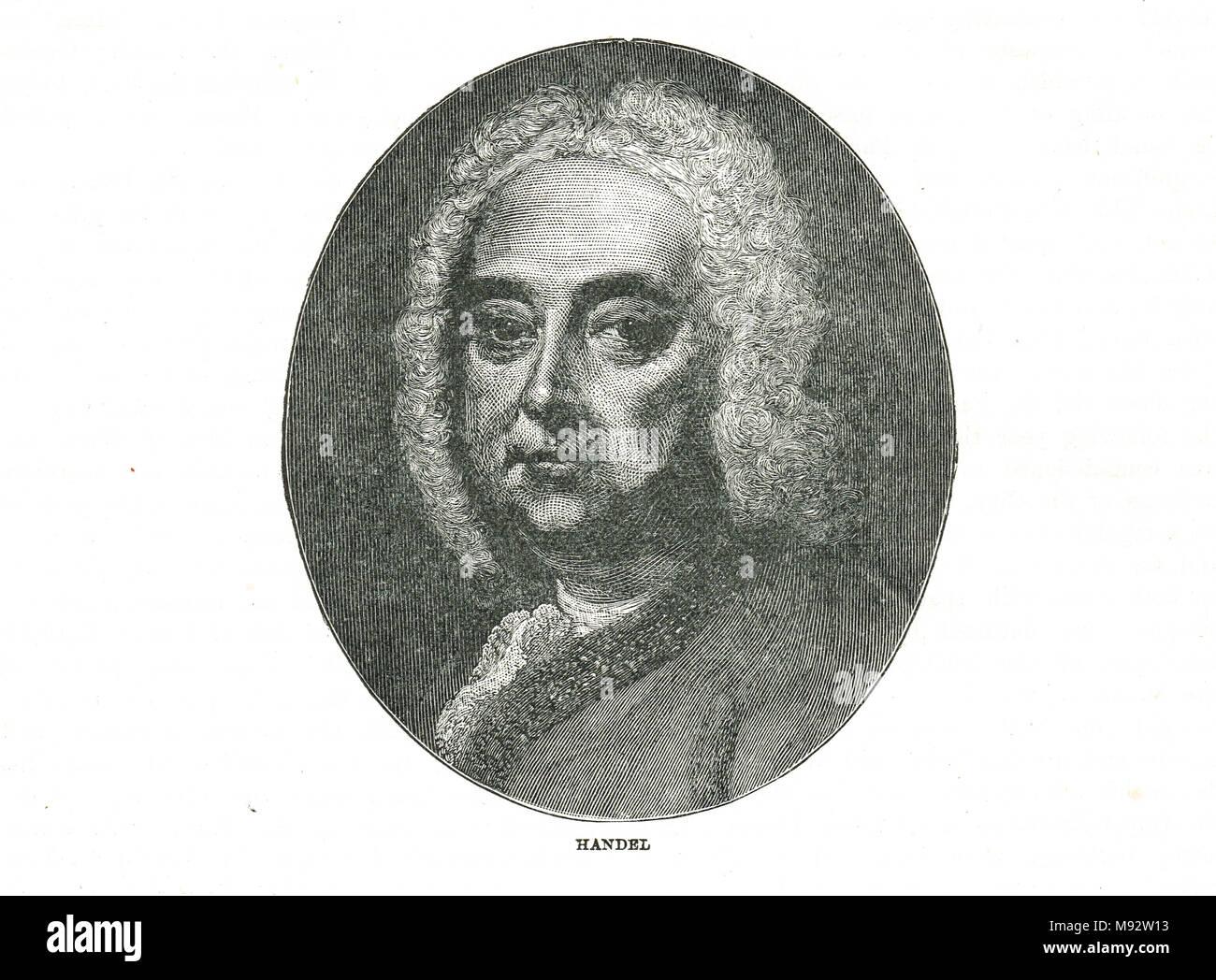 Georg Friedrich Händel (oder Friedrich) Stockbild