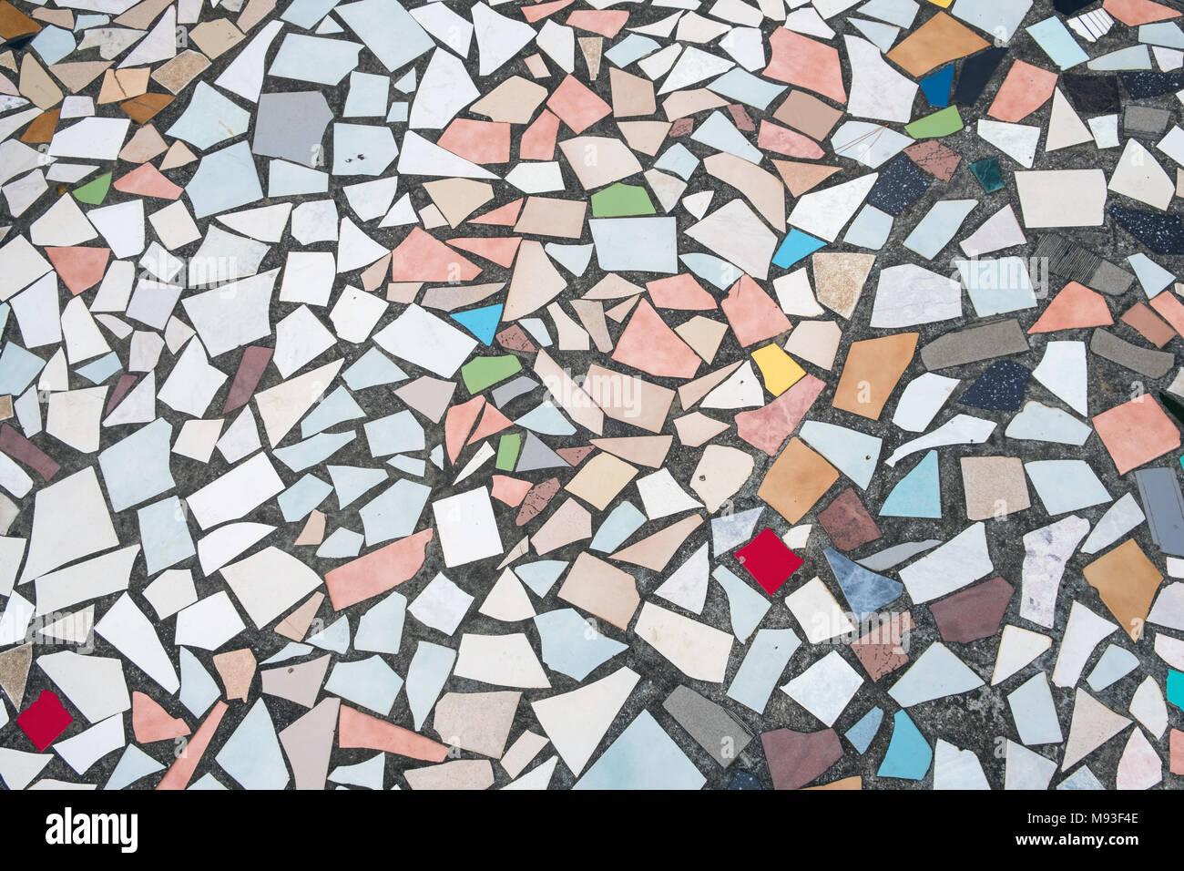 Mehrfarbige Fliese Muster Abstrakte Farbenfrohe Fliesen