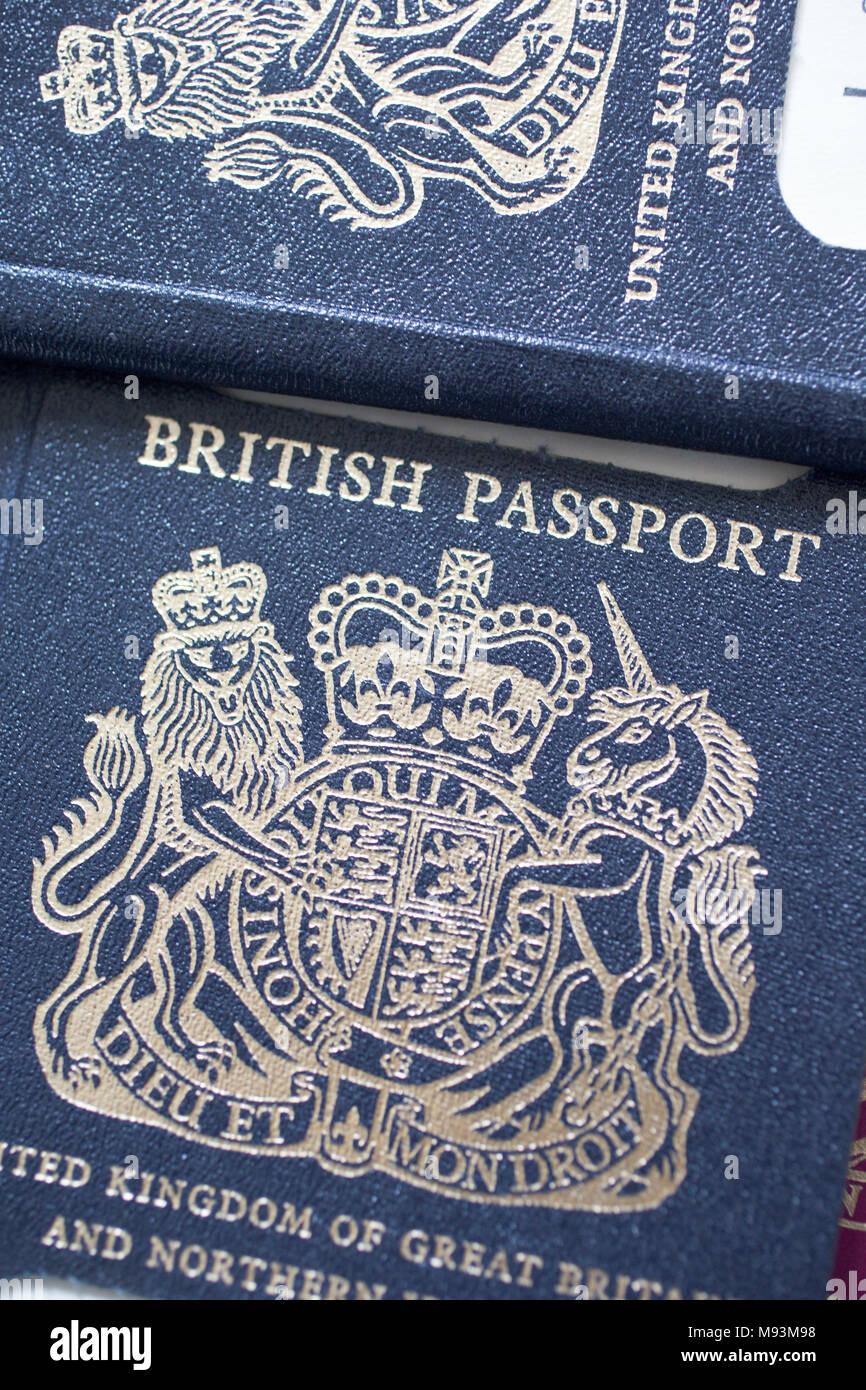 Die Neuen Britischen Reisepass Nach Brexit Ausgestellt Werden In