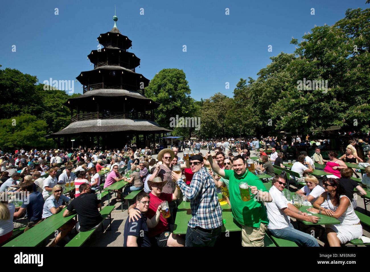 Allemagne Baviere München Jardin Anglais Le Pavillon Chinois