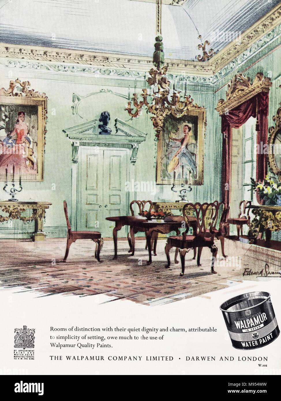 Vintage Illustration Ad Advert Stockfotos & Vintage Illustration Ad ...