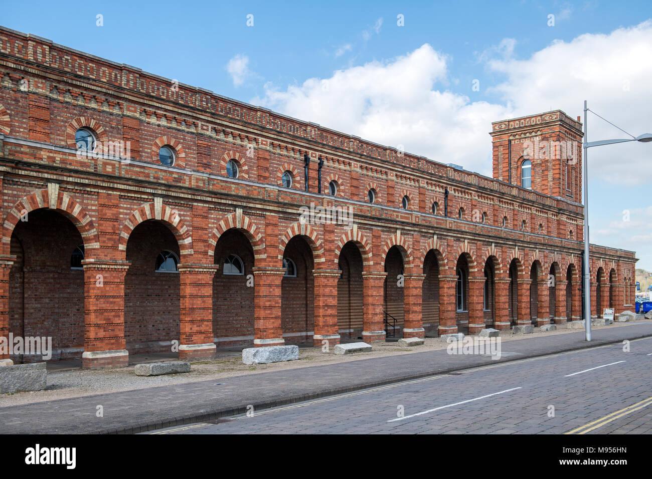 Viktorianische Pumpenhaus Chatham. Jetzt die Kupfer niet Distillery. Stockbild