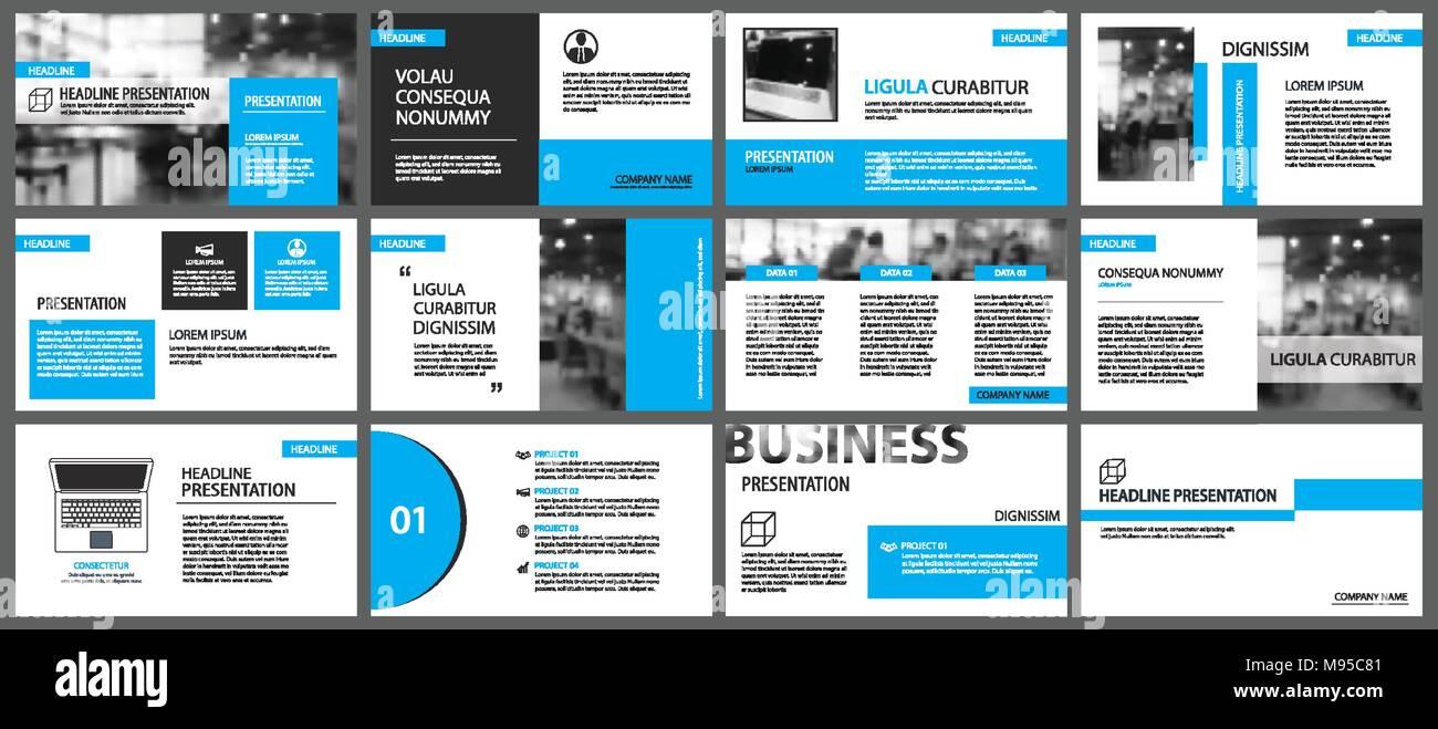 Blaue und weiße Element für Folie Infografik für den Hintergrund ...