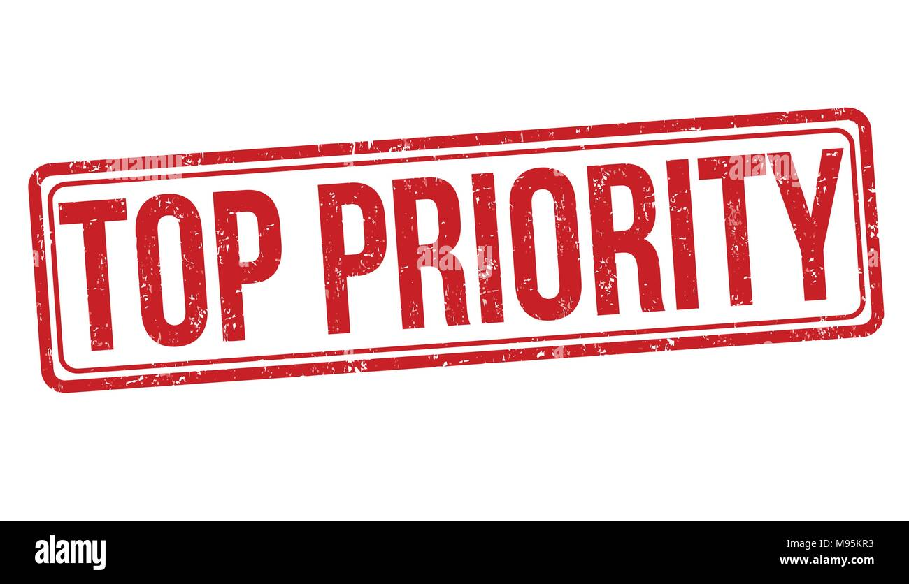 Top Priority Stockfotos & Top Priority Bilder - Alamy