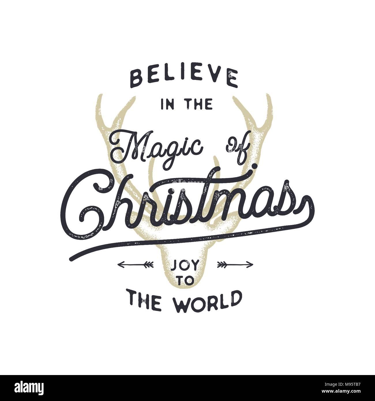 Weihnachten Typografie Zitat Design. Glaube an Weihnachten Magie ...