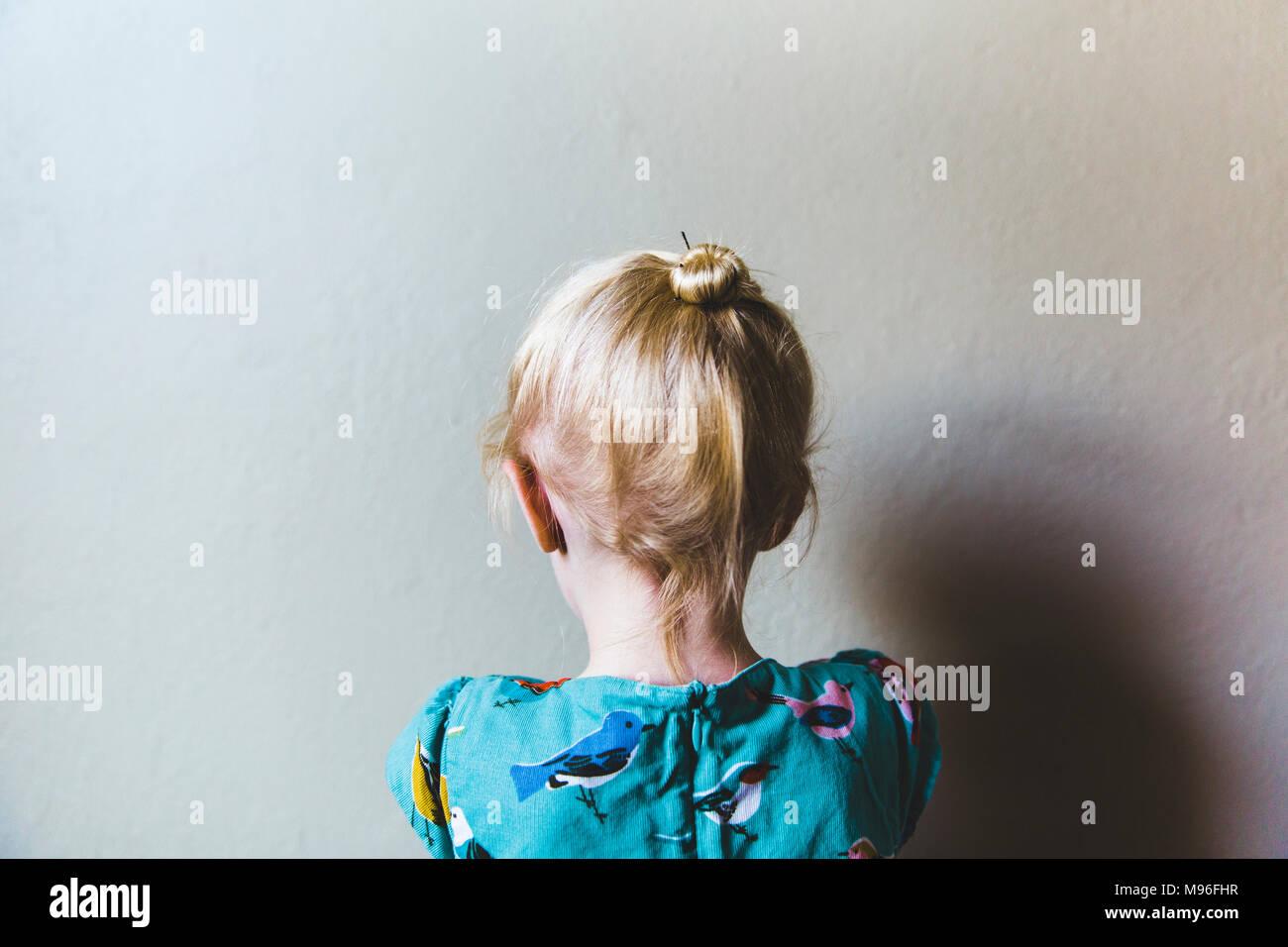 Rückseite des Girl's Kopf Stockfoto