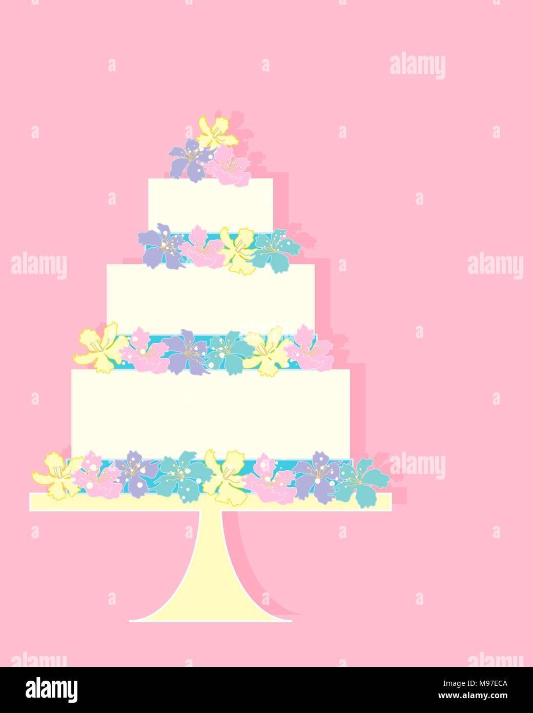 Ein Beispiel Fur Eine Bunte Grusskarte Mit Einer Feier Kuchen In Jade